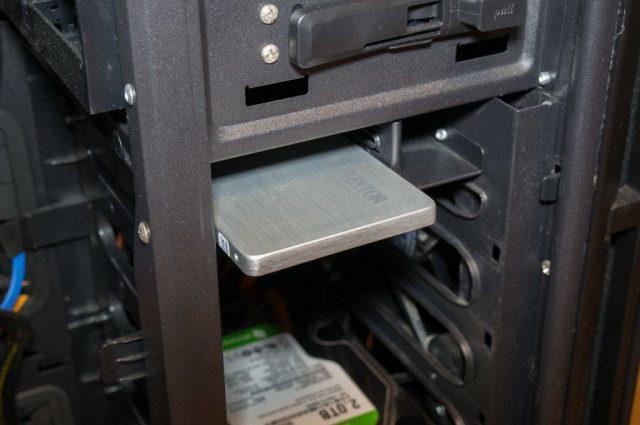 PCケース内のSSD