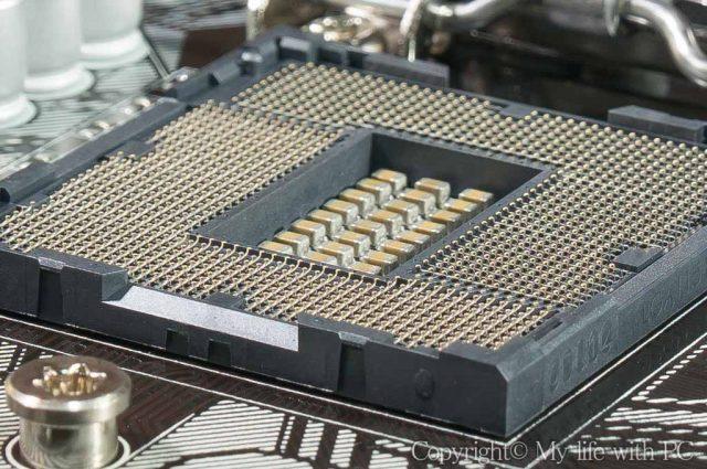 CPUソケットの拡大画像